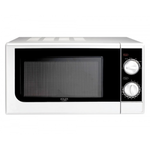 Adler AD 6203 microwave Countertop Solo microwave 20 L 1080 W Black,White
