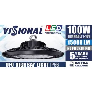 LED HIGH BAY UFO - 100W  / DIMMABLE 1-10V / 4000K  4751027178437