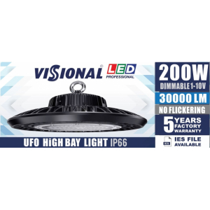 LED HIGH BAY UFO - 200W  / DIMMABLE 1-10V / 4000K  4751027178451