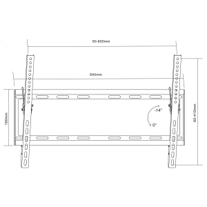 Mount wall for TV Maclean MC-605 (Tilting, Wall - 70